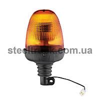Проблесковый маячок оранжевый LED 24V с креплением на штангу