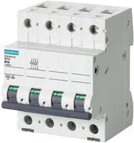 Автоматический выключатель Siemens Sentron  (400В, 6кA, 3P+N, B, 16A), 5SL6 616-6