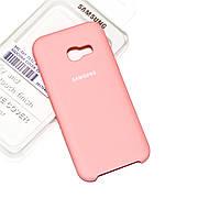 Силиконовый чехол на Samsung A3 320 (2017) Soft-touch Pink
