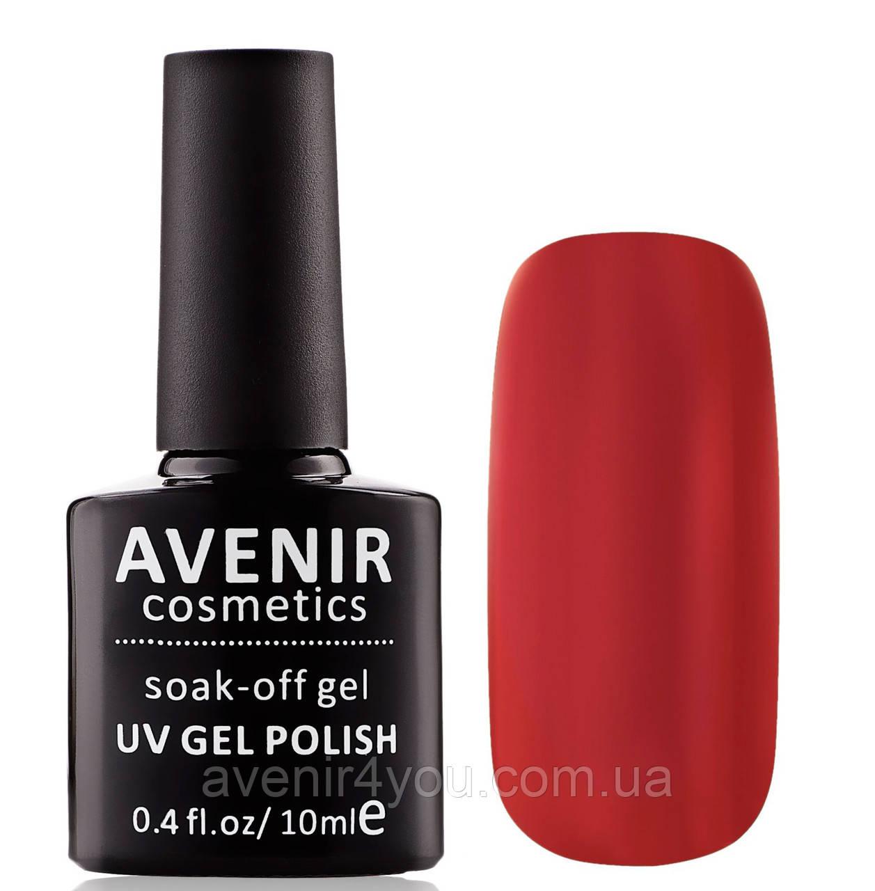 Гель-лак AVENIR Cosmetics № 225 Криваво червоний