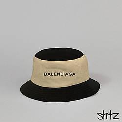 Панама Balenciaga черного и бежевого цвета (люкс копия)