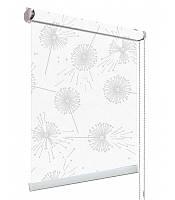 Рулонні штори тканина квіти 5428/6 Одуванчики білі