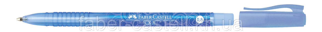 Шариковая ручка Faber-Castell СХ 5 синяя с перманентными чернилами 0.5 мм, 246651