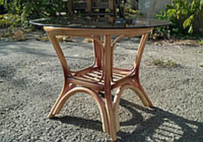 Кофейный столик Дели ЧФЛИ 60х51 см стекло-ротанг