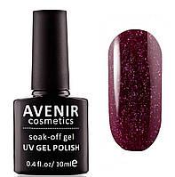 Гель-лак AVENIR Cosmetics №115. Авантюрин фиолетовый