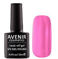Гель-лак AVENIR Cosmetics №110. Ярко розовый полупрозрачный