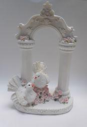 Свадебная фигура 2 голубя на алтаре 09779  h16см Китай-02283