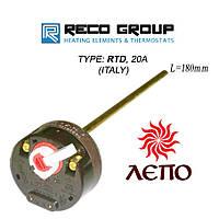 Термостат терморегулятор с коротким стержнем капиляро RECO 20А для бойлера водонагревателя