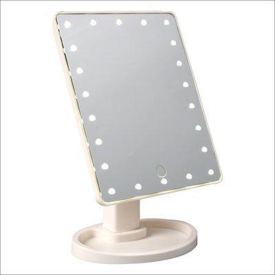 Зеркало для макияжа Magic Makeup Mirror с вертикальной LED-подсветкой белые
