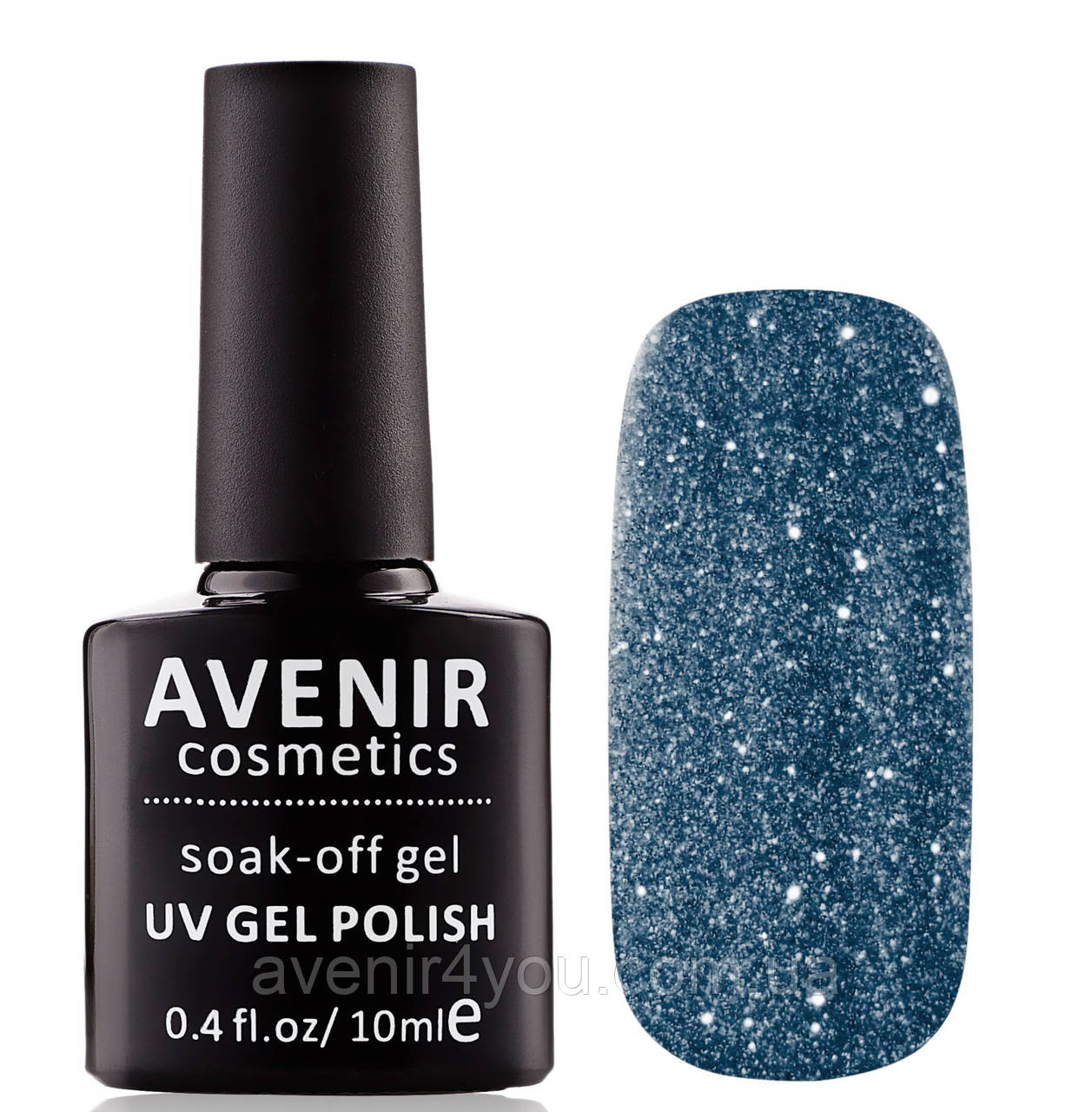 Гель-лак AVENIR Cosmetics №107.Попелясто-блакитний з шимером