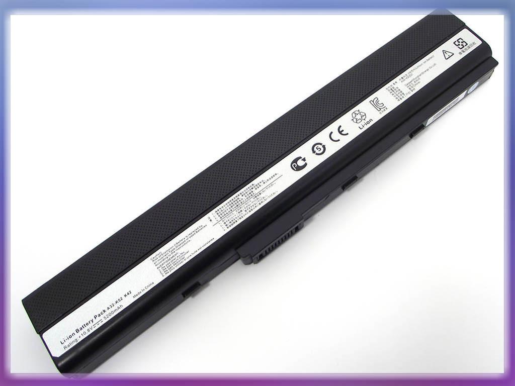 Аккумулятор ASUS (A32-K52) A42 (10.8V 5200mAh, Samsung Cell). Black.