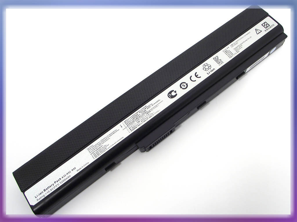 Батарея ASUS (A32-K52) X42 (10.8V 5200mAh, Samsung Cell). Black.