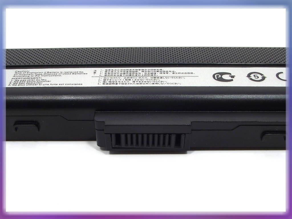 Батарея ASUS (A32-K52) X42 (10.8V 5200mAh, Samsung Cell). Black. 3