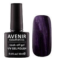 Гель-лак AVENIR Cosmetics №116. Темно-баклажановый бархат