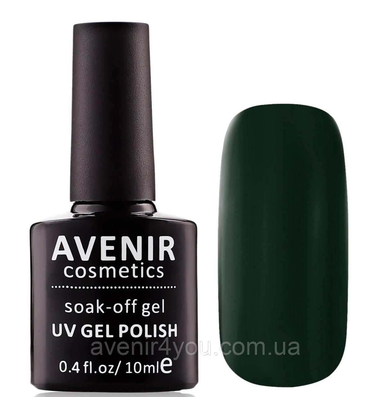 Гель-лак AVENIR Cosmetics №118. Темно-зеленый