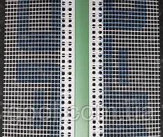 Рустовочный профиль ПВХ с сеткой толщина руста 20 мм длина 2,5 метра