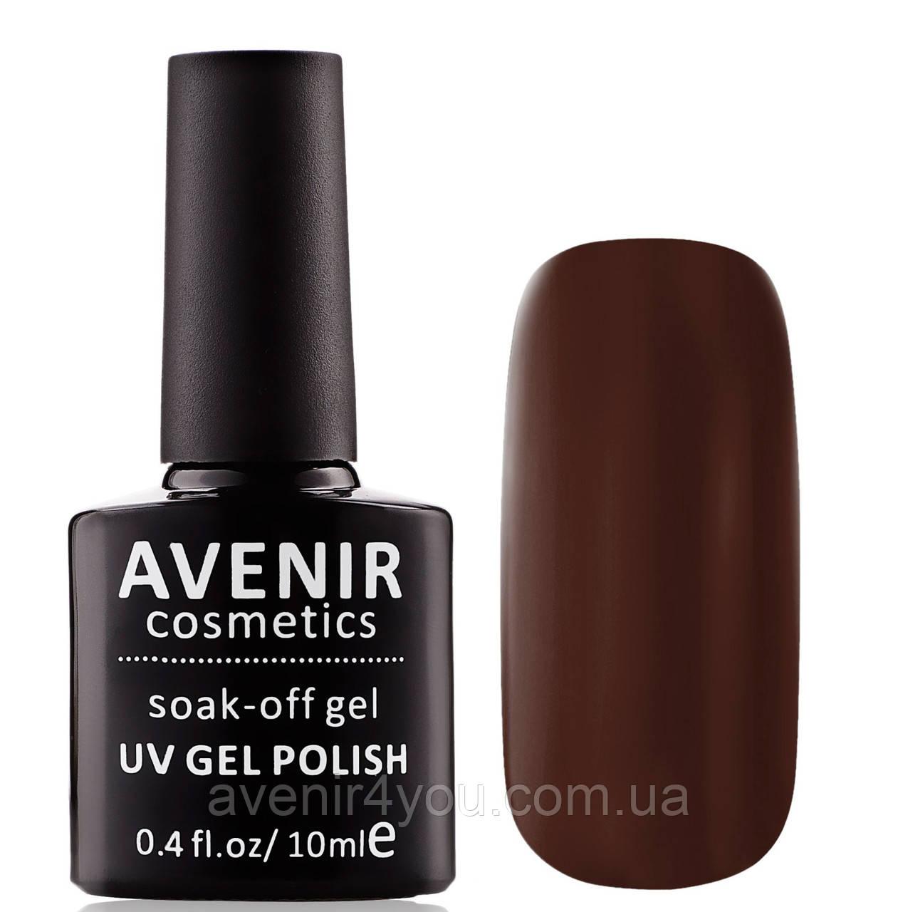 Гель-лак AVENIR Cosmetics №125. Темно-коричневий