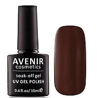Гель-лак AVENIR Cosmetics №125. Темно-коричневий, фото 1