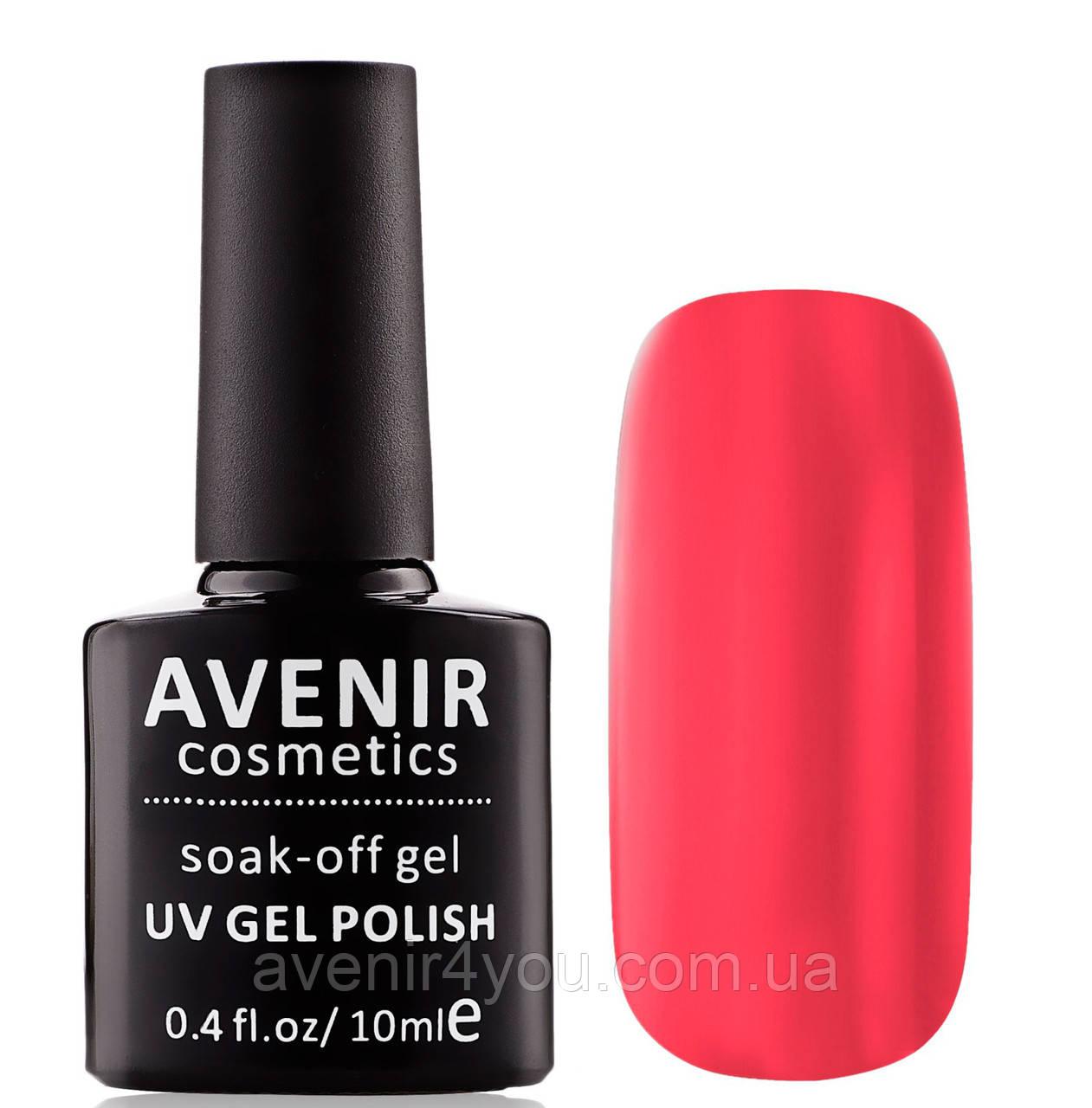 Гель-лак AVENIR Cosmetics №104. Неоновый оранжево-розовый
