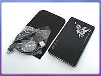 """Карман внешний USB2.0 для HDD 2.5"""" SATA 9.5mm Алюминиевый BET-219U2 Black. Поддержка дисков до 3Tb. В комплекте чехол, кабель USB2.0"""