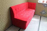 Диван для маленької кухні (Яскраво-червоний), фото 1
