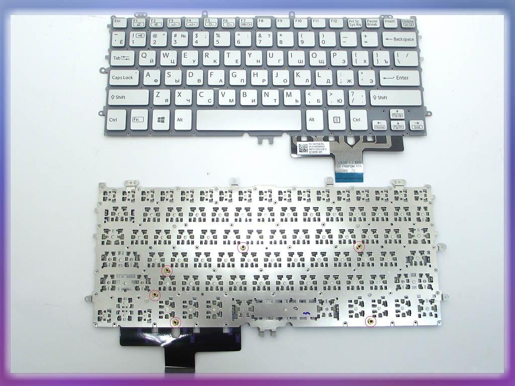 Клавиатура SONY Pro 11 SVP11 ( RU Silver без рамки. Горизонтальный Ent