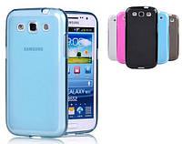Силиконовый чехол для Samsung Galaxy S3 I9300 + защитная пленка
