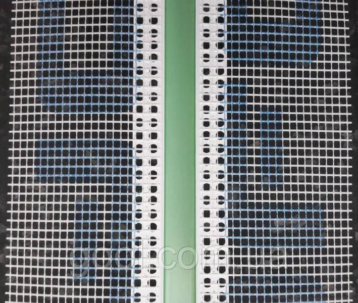 Рустовочный профиль ПВХ с сеткой толщина руста 30 мм длина 2,5 метра