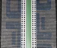 Рустовочный профиль ПВХ с сеткой толщина руста 30 мм длина 2,5 метра, фото 1