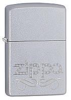 Зажигалка Зиппо - Zippo Scroll, гравировка, покрытие Satin Chrome