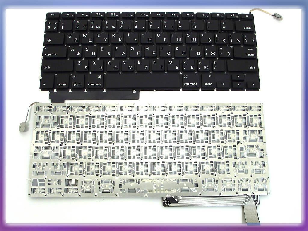 Клавиатура APPLE Macbook Pro A1286 ( RU BLACK с подсветкой клавиш, гор