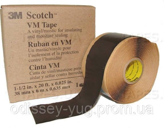 Мастичная лента 3M™ Scotch™ VM Tape, винило-мастичная (101 мм. х 3 м х 0,635 мм). Телекомовская.