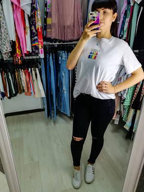 Футболка белая с принтом молодёжная футболка красивая стильная модная - 528-943, фото 2