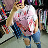 Футболка с фламинго розовые крылья на спине -532-80701