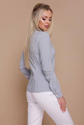Серая рубашка- блуза Рубьера д/р, фото 2
