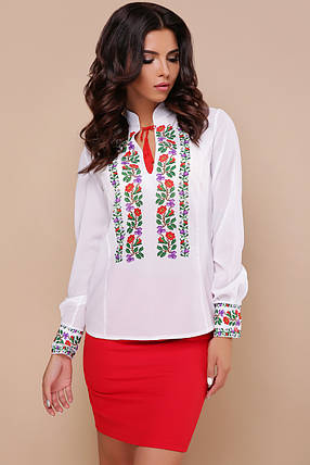 Для торжества или офиса красивая блуза-Вышиванка с рукавом Ярослава д/р, фото 2