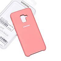 Силиконовый чехол на Samsung A5 (2018) Soft-touch Pink