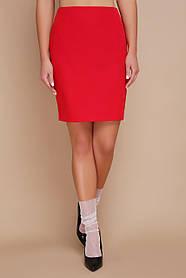 Красная красивая деловая юбка мод. №1