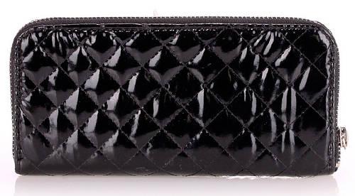 Модный женский кошелек из искусственной кожи POOLPARTY Артикул: blacklaq-wallet черный