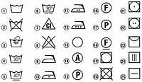 Что означают значки на бирках (уход за тканями)