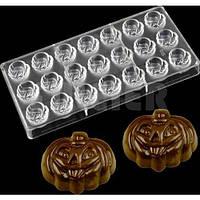 Поликарбонатная форма для шоколада Тыковки 21 ячейки