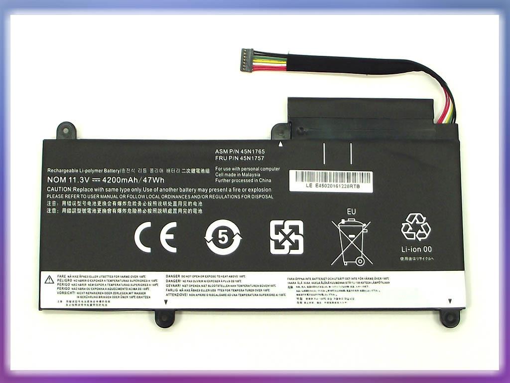 Аккумулятор Lenovo ThinkPad E460 Series (11.3V 4200mAh) P/N: 45N1752 4 2