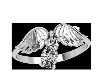 Кольцо  женское серебряное Крылья 10440