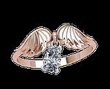 Кольцо  женское серебряное Крылья 10440, фото 2