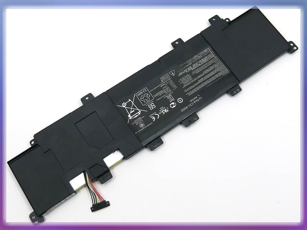Аккумулятор ASUS (C31-X502, C21-X502) X502 (11.1V 4400mAh). Black.