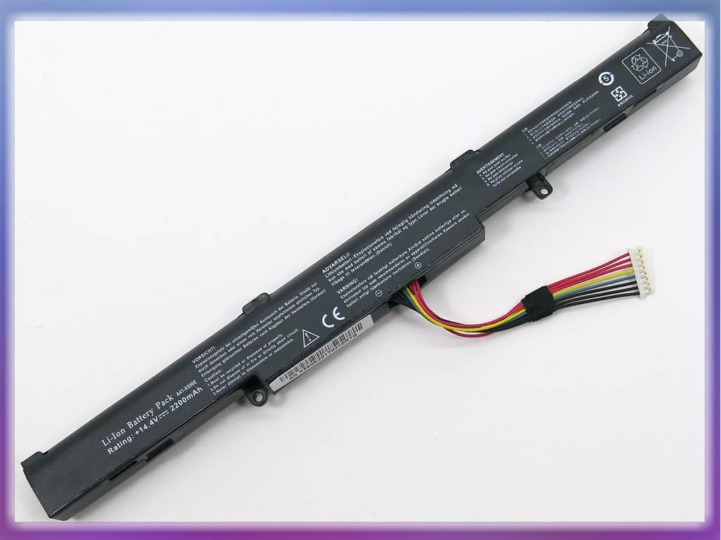 Аккумулятор ASUS (A41-X550E) X450 (14.4V 2200mAh). Black