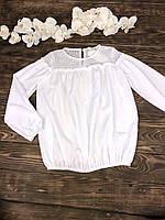 Блузка белая с кружевом