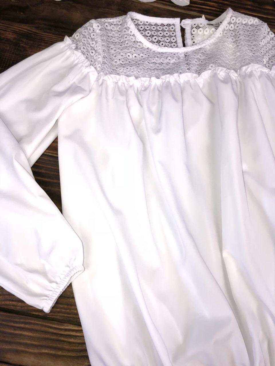 a94ce0a4faa Блузка белая с кружевом  продажа