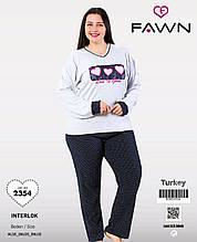 Піжама великих розмірів, інтерлок , Fawn