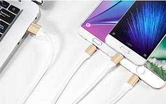 USB кабель Floveme 3 в 1 micro/TYPE-C/Lightning, фото 2